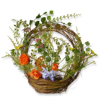 National Tree Company 16-inch Spring Semi Ring Basket