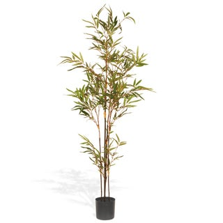 National Tree Company 48-inch Mini Black Bamboo Potted Tree