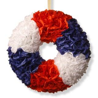 National Tree Company 18-inch Patriotic Rose Wreath