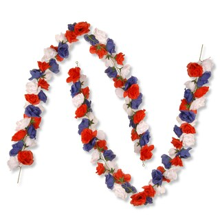 National Tree Company 72-inch Patriotic Rose Garlands (Set of 2)