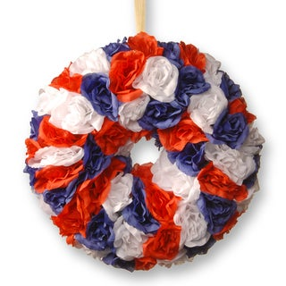 National Tree Company 14.5-inch Patriotic Rose Wreath