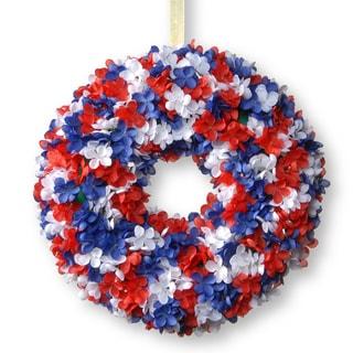 National Tree Company 14-inch Patriotic Hydrangea Wreath