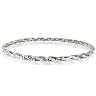 Link to Mondevio High Polished Diamond-cut 3mm Bangle Similar Items in Bracelets