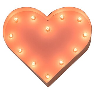 Indoor/ Outdoor Commercial Grade Pink Steel 12-inch Heart Profession/Commercial MarqueeLight