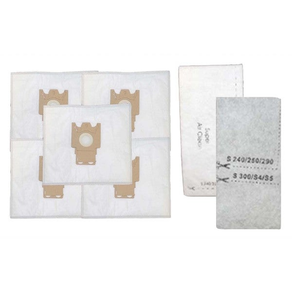 5pk Replacement FJM Bags & 2 Filters, Fits Miele, Compatible with Part 7291640