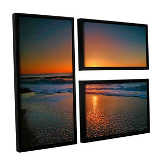 ArtWall Steve Ainsworth's Morning Has Broken II, 3 Piece Floater Framed Canvas Flag Set