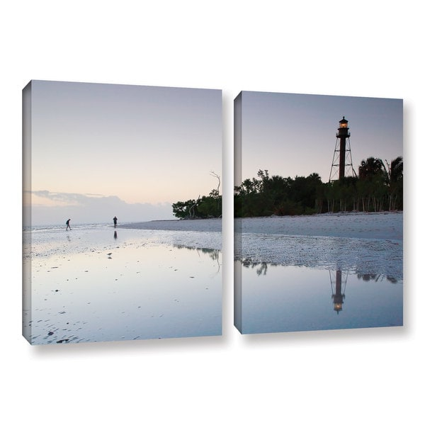 ArtWall Steve Ainsworth's Sanibel Lighthouse , 2 Piece Gallery Wrapped Canvas Set