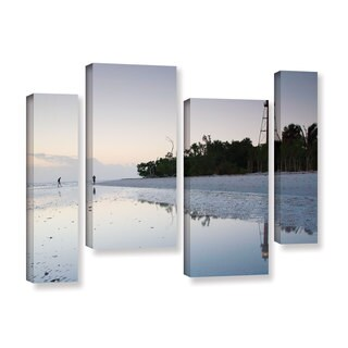 ArtWall Steve Ainsworth's Sanibel Lighthouse , 4 Piece Gallery Wrapped Canvas Staggered Set