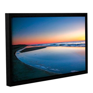 ArtWall Steve Ainsworth's Sea and Sand II, Gallery Wrapped Floater-framed Canvas