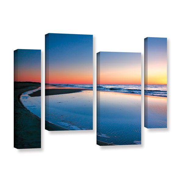 ArtWall Steve Ainsworth's Sea and Sand II, 4 Piece Gallery Wrapped Canvas Staggered Set