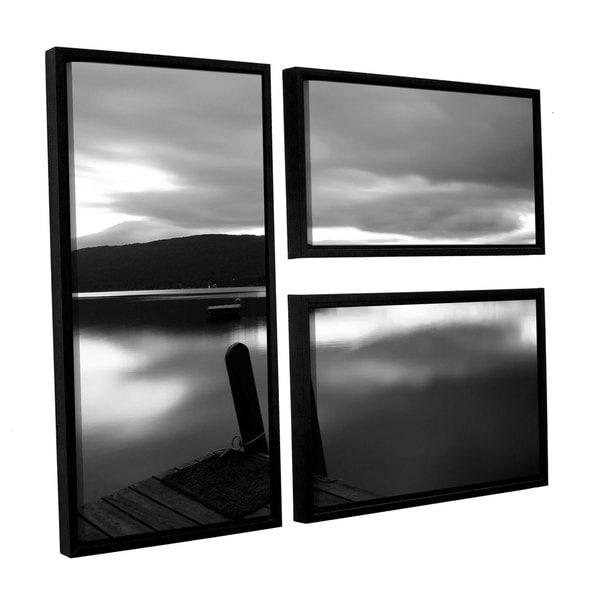 ArtWall Steve Ainsworth's Still Waters, 3 Piece Floater Framed Canvas Flag Set