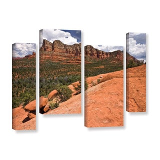 ArtWall Cody York's Sedona, 4 Piece Gallery Wrapped Canvas Staggered Set