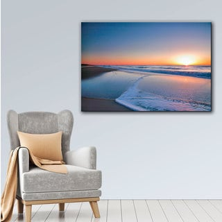 ArtWall Steve Ainsworth's Sunrise Over Assateague II, Gallery Wrapped Canvas