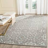 Safavieh Handmade Blossom Grey Wool Rug - 5' x 8'