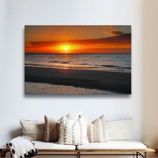 ArtWall Steve Ainsworth's Sunrise Over Sanibel , Gallery Wrapped Canvas