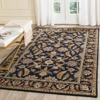 Safavieh Handmade Blossom Navy Wool Rug (5' x 8')