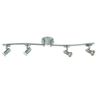 Catalina 19211-000 4-light Brushed Nickel Finish Fixed Track with Adjustable Arms