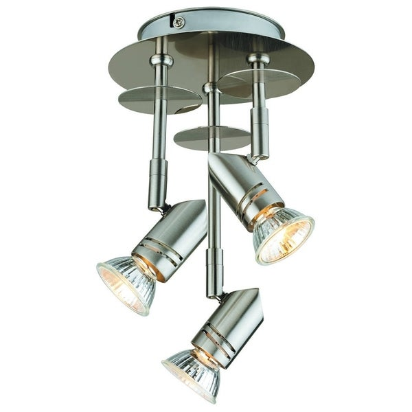Catalina 19210 000 3 Light Brushed Nickel Finish Fixed Canopy