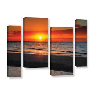 ArtWall Steve Ainsworth's Sunrise Over Sanibel , 4 Piece Gallery Wrapped Canvas Staggered Set