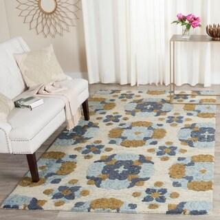 Safavieh Handmade Blossom Beige/ Multi Wool Rug (5' x 8')