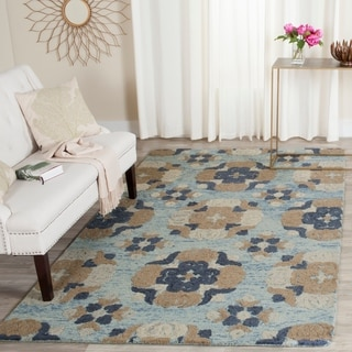 Safavieh Handmade Blossom Blue/ Multi Wool Rug (5' x 8')