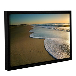 ArtWall Steve Ainsworth's Surf and Sand, Gallery Wrapped Floater-framed Canvas