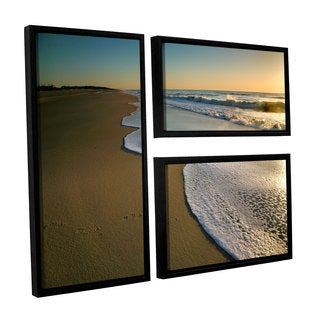 ArtWall Steve Ainsworth's Surf and Sand, 3 Piece Floater Framed Canvas Flag Set