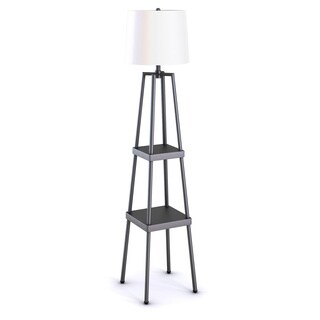 Catalina Lighting 3-Way 58-inch Distressed Iron Etagere Floor Lamp