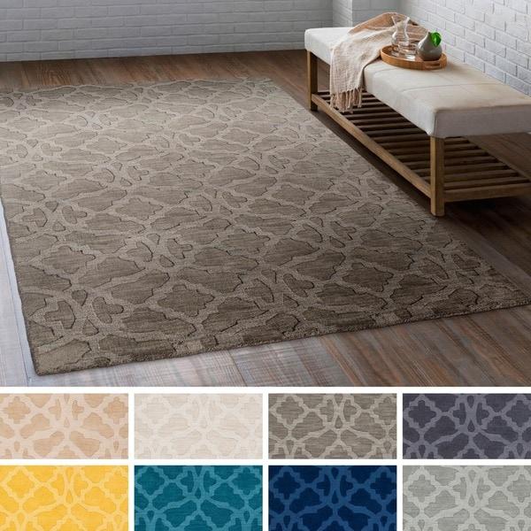 Hand Loomed List Wool Area Rug 9 X27 X