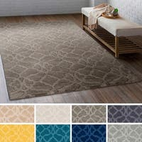 Hand-Loomed List Wool Area Rug