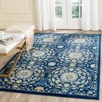 Safavieh Evoke Vintage Navy Blue/ Ivory Distressed Rug (6' 7 x 9')