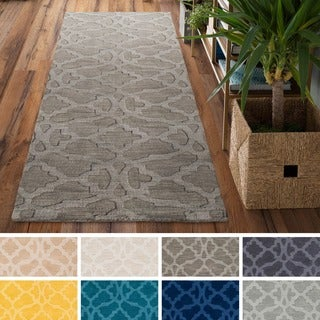 Hand-Loomed List Wool Rug (2'3 x 10')