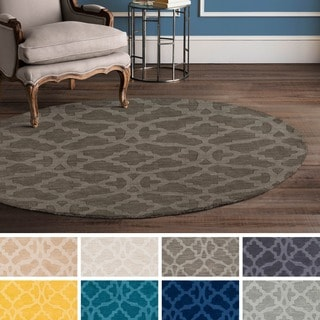 Hand-Loomed List Wool Rug (9'9 Round)