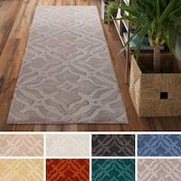 Hand-Loomed Ledo Wool Rug - 2'3 x 10'