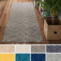 Hand-Loomed List Wool Rug - 2'3 x 8'