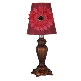 Catalina Decorative Accent Lamp with Fabric Floral Design Shade