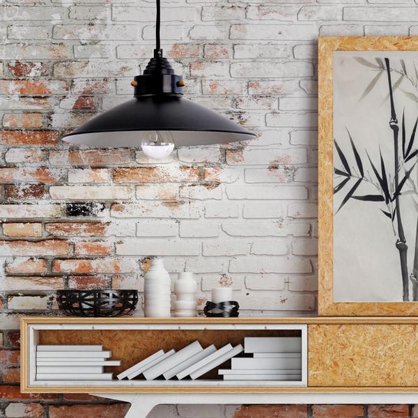 Carbon Loft Kemper Bronze 1-light Metal Farmhouse Pendant