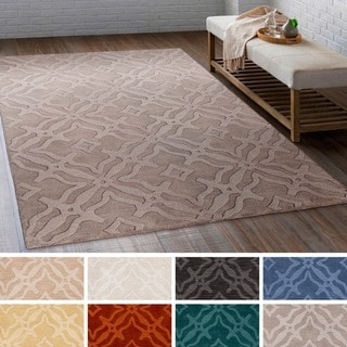 Copper Grove Rossferry Hand-loomed Wool Geometric Floral Area Rug