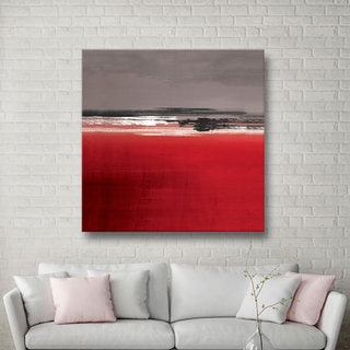 ArtWall Pied Piper's Red Gray, Gallery Wrapped Canvas