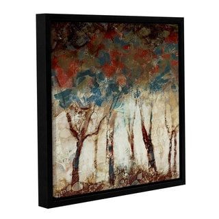 ArtWall Pied Piper's Trendy Tree Horizon, Gallery Wrapped Floater-framed Canvas