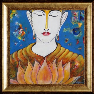 Sanjay Punekar 'Bhudha' Framed Fine Art Print on Canvas