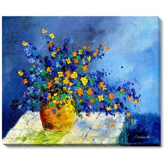 Pol Ledent 'Still Life 5742' Framed Fine Art Print on Canvas