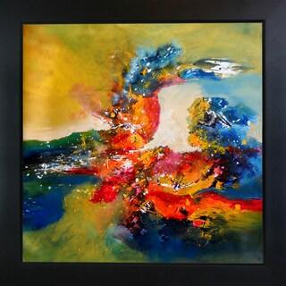 Sanjay Punekar 'Abstract Harmony' Framed Fine Art Print on Canvas