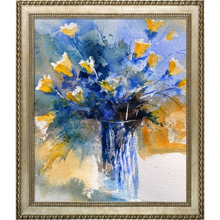 Pol Ledent 'Still Life 566456' Framed Fine Art Print on Canvas