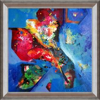 Sanjay Punekar 'Floral' Framed Fine Art Print on Canvas