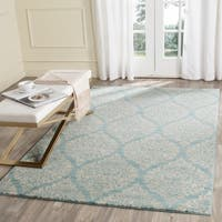 Safavieh Evoke Vintage Damask Light Blue/ Ivory Distressed Rug (5' 1 x 7' 6) - 5' 1 x 7' 6