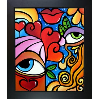 Tom Fedro 'Bubbles' Framed Fine Art Print on Canvas