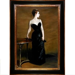 John Singer Sargent 'Portrait of Madame X' Hand Painted Framed Canvas Art