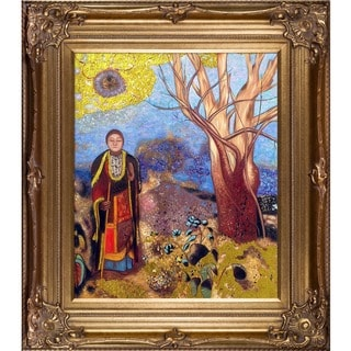 Odilon Redon 'The Buddha' (Luxury Line) Hand Painted Framed Canvas Art