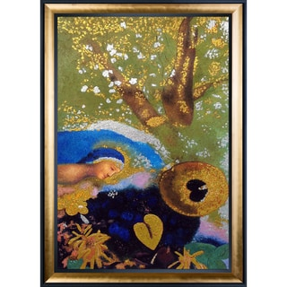 Odilon Redon 'Homage to Leonardo da Vinci, 1908' (Luxury Line) Hand Painted Framed Canvas Art